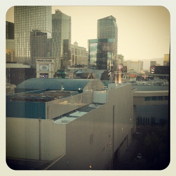 View from MGM room at 2012 Coach Summit in Vegas