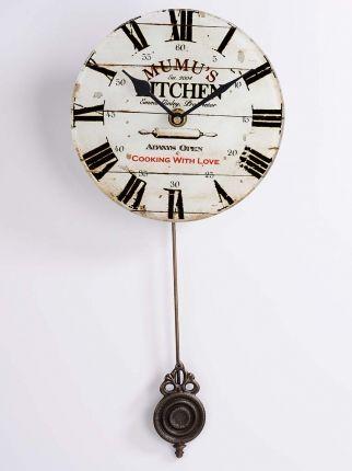 Mumu\'s Kitchen Sallangaçlı Duvar Saati