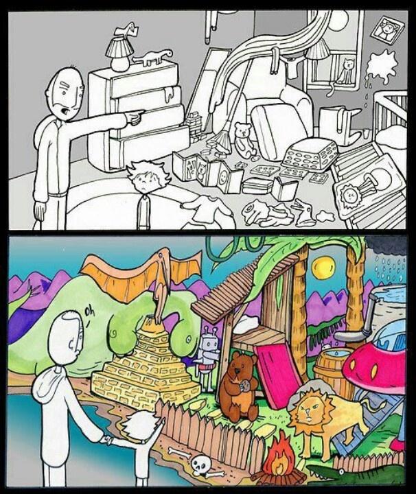 Creativiteit vanuit het kind vraagt van volwassenen om resultaat los te laten. Kinderen leren van processen, ontdekken en experimenteren.