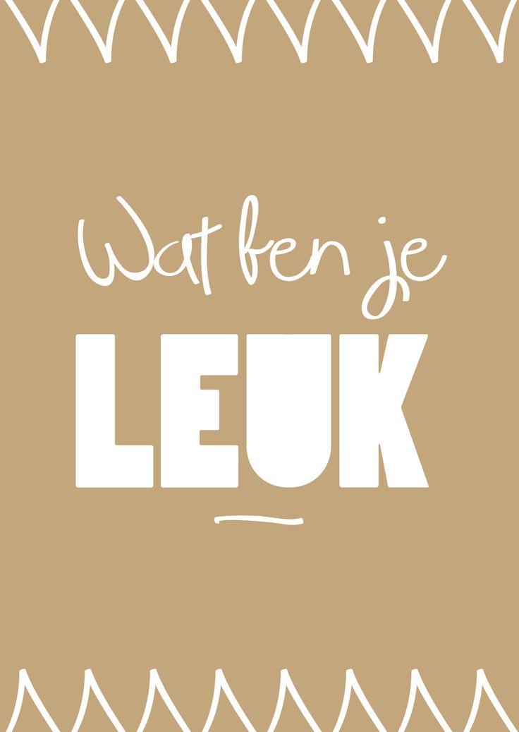 wat ben je leuk #nederlandse #spreuken