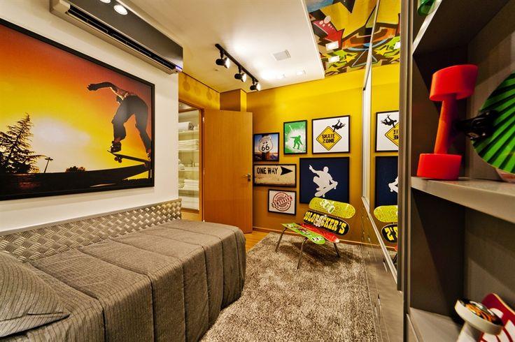 skate / bedroom / quarto de menino / home decor / bohrer arquitetura / interior design