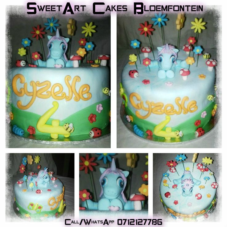 My little pony cake (all angles) Beautiful, affordable themed cakes, cupcakes and custom made fondant decorations & figurines made according to your specification for all types of cakes. (Cake decor available for sale separately)  For more information or orders Email: sweetartbfn@gmail.com Call/WhatsApp 0712127786; Follow me on Facebook https://www.facebook.com/groups/SweetArtCakesBloemfontein/ **CLASSES AVAILABLE** Email: SweetArtClasses@gmail.com