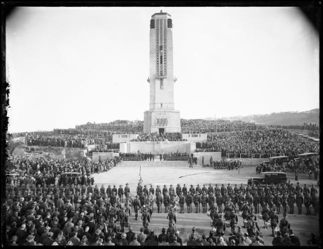 Wellington's National War Memorial on ANZAC Day 1932
