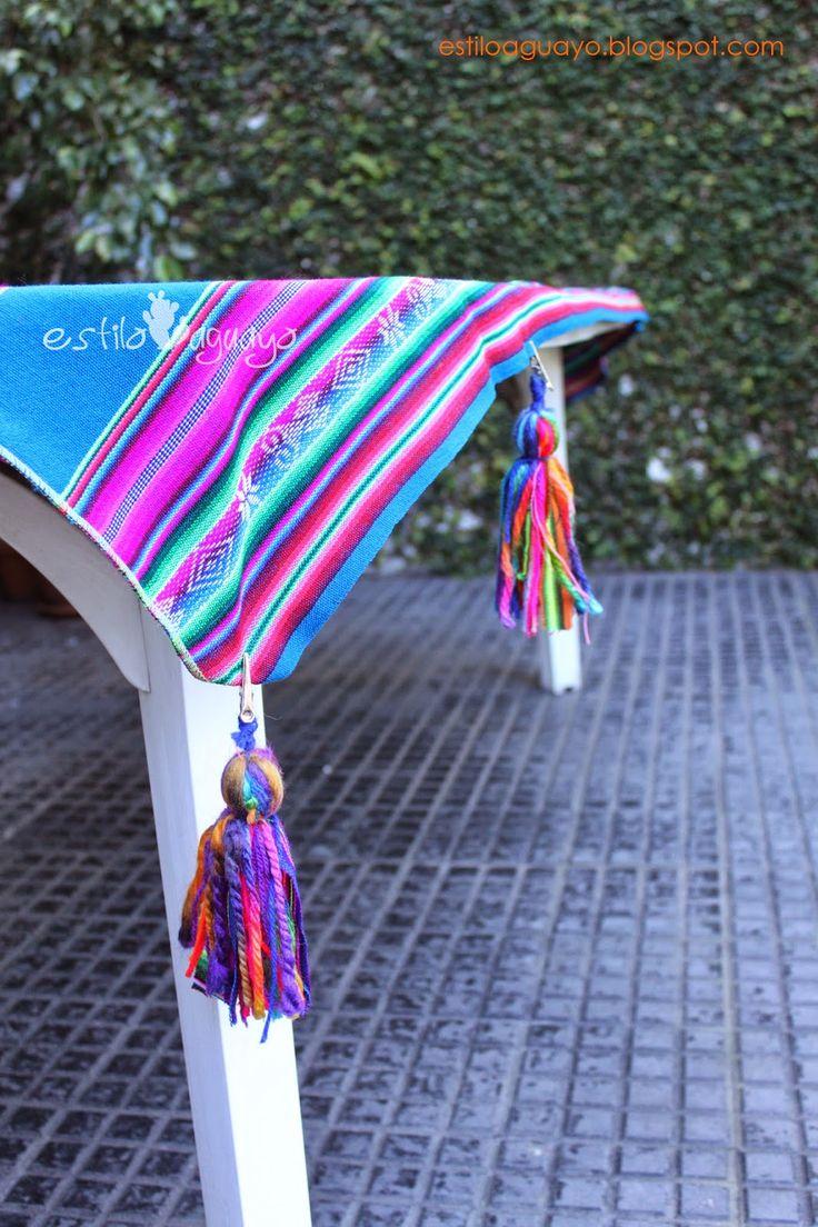 Pesas para mantel - Borlas Aguayeras / Estilo Aguayo