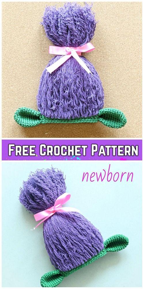 5 Crochet Poppy Troll Hat Free Crochet Patterns  53f1cf56915