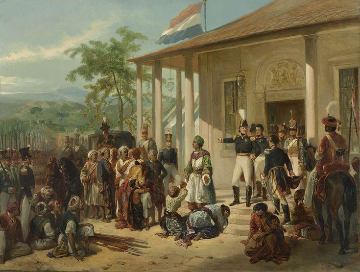 De onderwerping van Diepo Negoro aan luitenant-generaal baron De Kock, Nicolaas Pieneman, ca. 1830 - ca. 1835