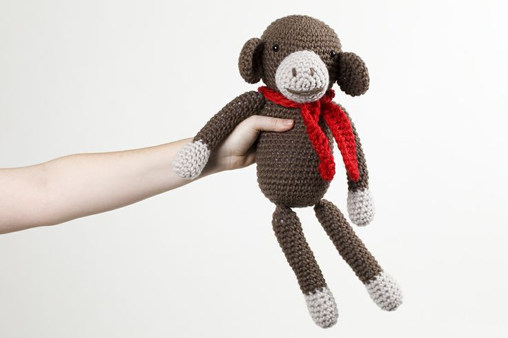 Anna Hadwin loves to crochet! Admitting to having a wool mountain at home, she finds inspiration in her husband's and daughter's drawings. This monkey is one of a menagerie of cute and cuddly crotcheted toys for children. For adults that can't resist her creations she has just started making very cute and funky crocheted cacti. Photo: Bo Wong