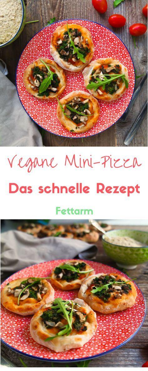 Wer denkt, Veganer müssten auf den leckeren Genuss von Mini-Pizza verzichten, der liegt zum Glück falsch. Denn auch ganz ohne Käse schmeckt der italienische Klassiker ganz hervorragend. Ich präsentiere euch heute ein Rezept für schnelle und fettarme Mini-Pizza – einfach und super lecker! #pizza #gesund #lecker #fettarm #lowfat #vegan #vegetarisch #schnell #rezept #partyrezept #party #healthylena #minipizzen