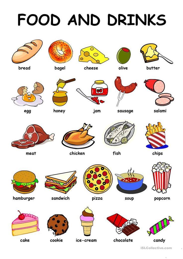 Food & Drinks worksheet Free ESL printable worksheets