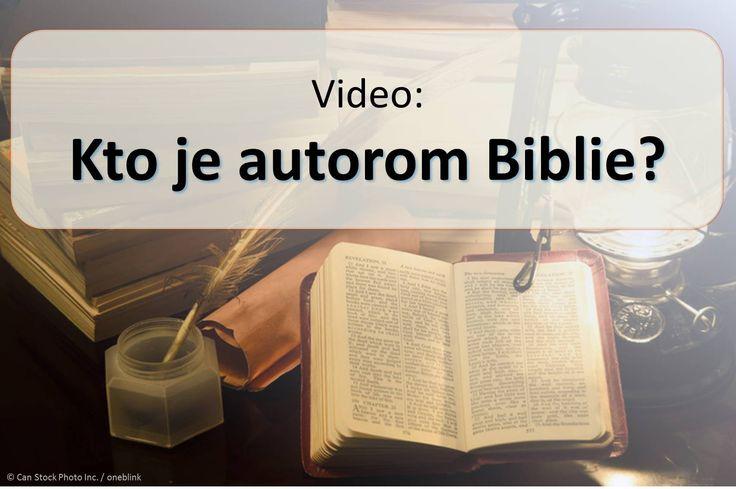 Okolo štyridsať rôznych mužov napísal text z biblie, ale že je nazývané za Božie Slovo. (1. Tesaloničanom 2:13) Ako by mohol Boh dať svoje myšlienky na ľudí? Pozrite si toto video a dozviete sa. https://www.jw.org/sk/publikacie/knihy/dobra-sprava-od-boha/dobra-sprava-z-biblie-je-od-boha/video-kto-je-autorom-biblie/ (About forty different men wrote the text of the Bible, but it is called the Word of God. How could God give his thoughts to the people? Watch this video to find out.)