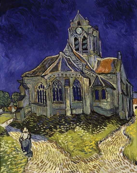 'The Church in Auvers-sur-Oise' by Vincent van Gogh (1890)