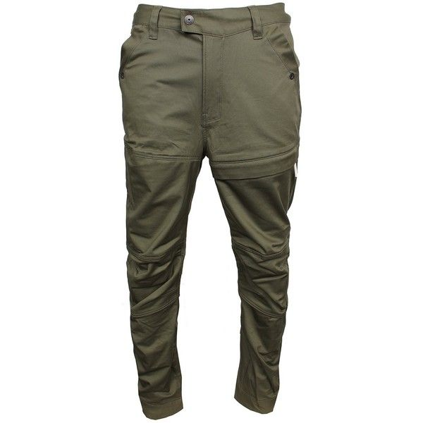 RACKAM CARGO ($180) ❤ liked on Polyvore featuring pants, army green cargo pants, cargo style pants, olive pants, green camo pants and military green pants