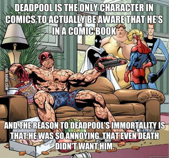 Except that Death likes Deadpool. THANOS cursed Deadpool with immortality out of jealousy. Someone needs to check their facts >.>