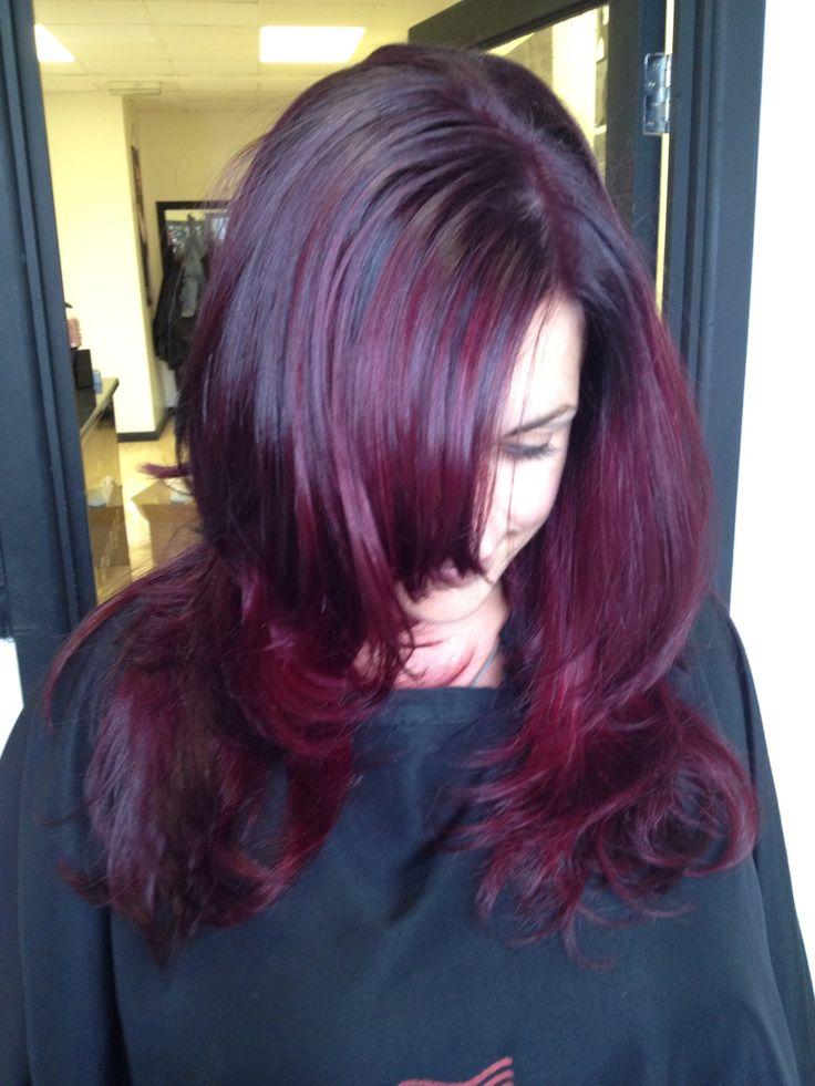 Pink Hair Purple Hair Wella Colour Id Burgundy Ombre
