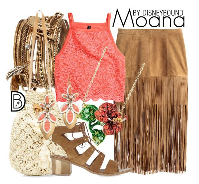 """""""Moana"""" by leslieakay ❤ liked on Polyvore featuring ALDO, H&M, Topshop, Stella & Dot, Andrew Hamilton Crawford, disney, disneybound and disneycharacter"""
