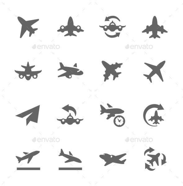 Planes Icons