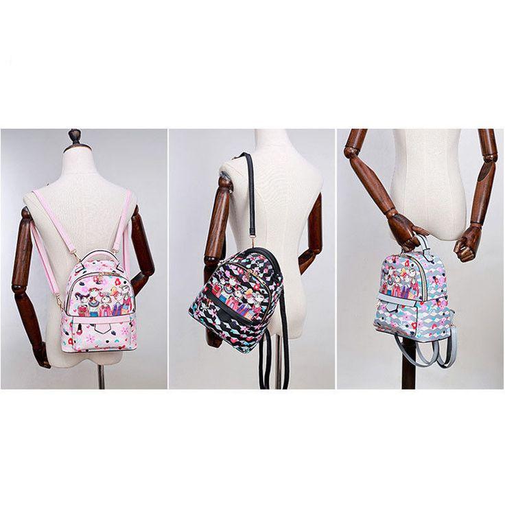 Creative Floral Printing Shoulder Bag Forest Department Ladies Girls Backpacks