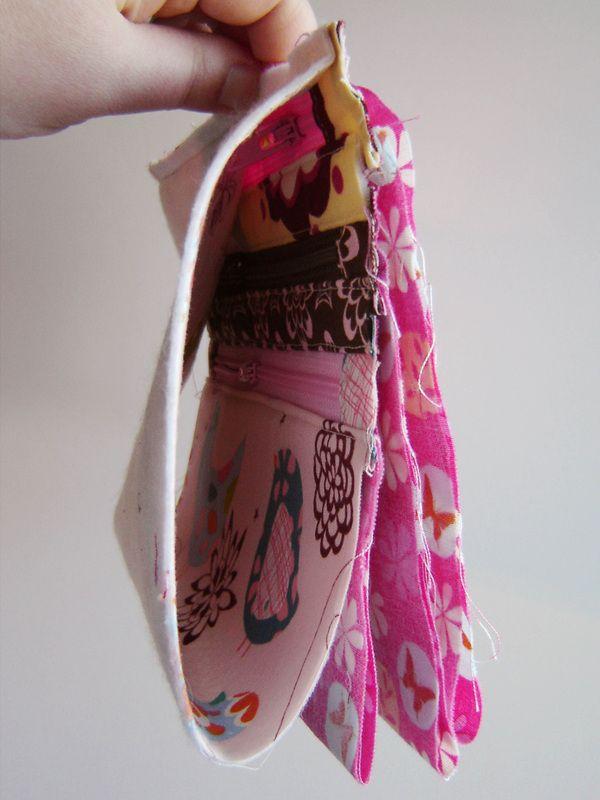 Triple-Zip Pouch - An Alternate Ending Tutorial - Marci Girl Designs