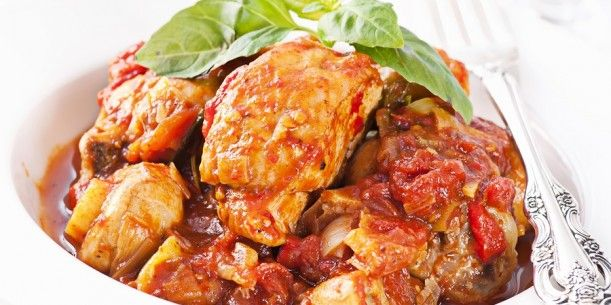 Slow Cooker Chicken Cacciatore | Stay at Home Mum