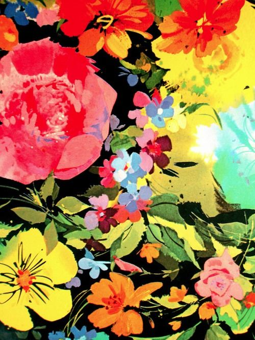 P R I N T ♥Iphone Wallpapers, Vintage Flower, Colors Flower, Floral Prints, Art, Fashion Prints, Flower Prints, Vintage Floral, Phones Wallpapers