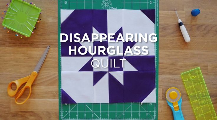 Quilt Snips Mini Tutorial of the Disappearing Hourglass