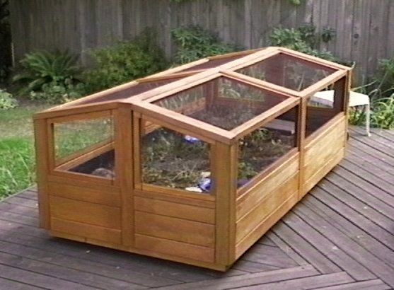 tortoise habitat - raised bed frame / cold frame over for protection from predators?
