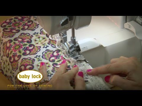 It's easy to apply lace with Baby Lock's Serger Lace Applicator Foot! - YouTube