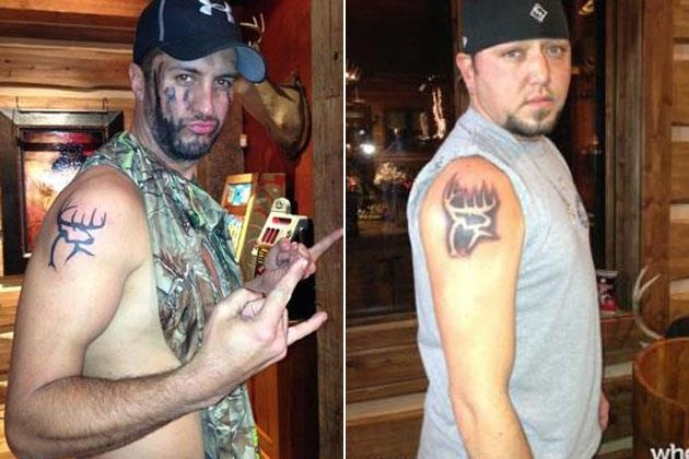 Thomas Luther Bryan and Jason Aldine Williams! Matching Buck Commander tattoos :)Jason Aldean3, Country Boys, Bucks Command, Country Music, Luke Bryans, Matching Tattoos, Eye Candies, Country Life, Jasonaldean