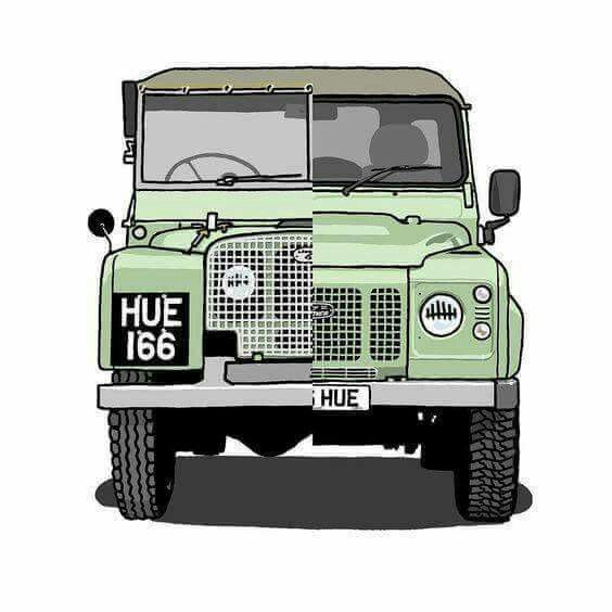 First and last Land Rover factory HUE 166