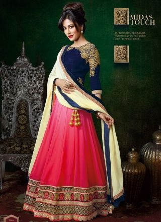 Chitrangada Singh Hot Pink And Blue Fancy Designer Lehenga  Choli http://www.angelnx.com/