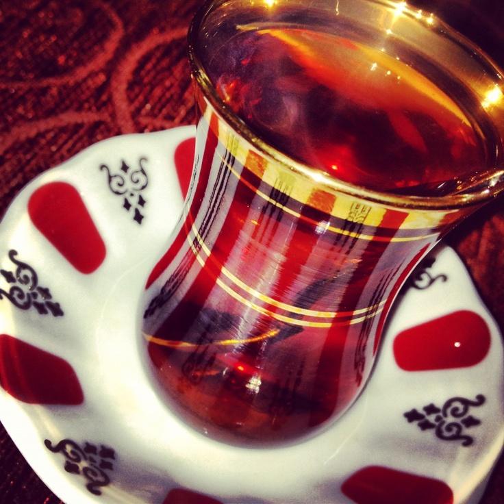 • Turkish tea • çay
