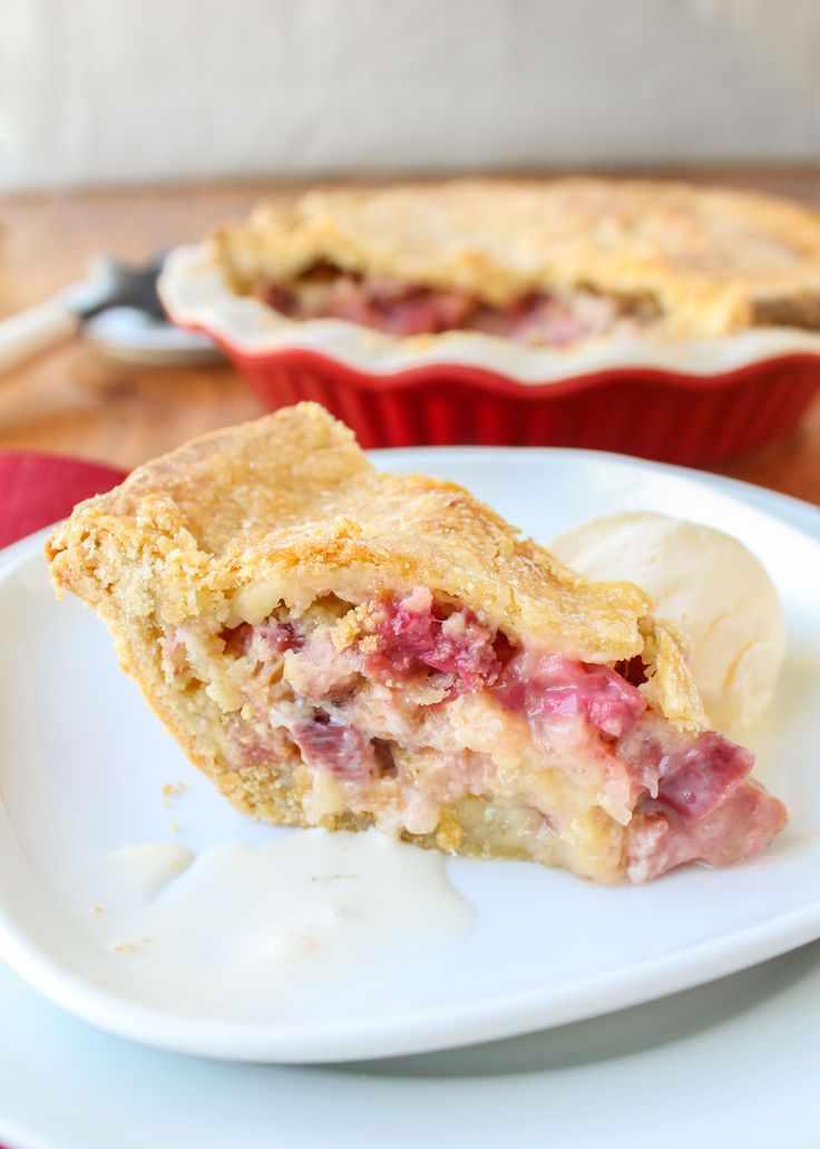 Rhubarb Custard Pie from The Food Charlatan // The BEST pie you will ever eat.