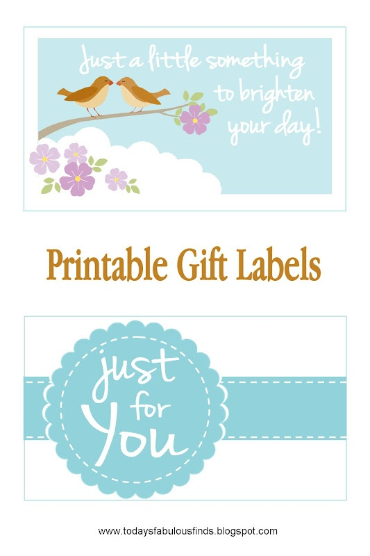 Today's Fabulous Finds: Free Printable Gift Tags and PrintRunner Winner