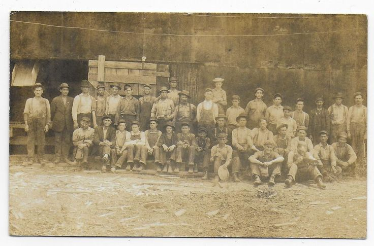 Paper / Pulp Mill Workers Parsons WV Old Real Photo Postcard