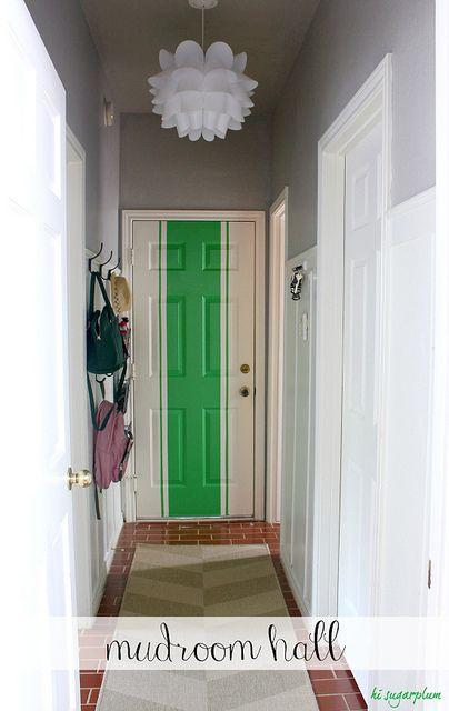 Boys room....navy blue and green door