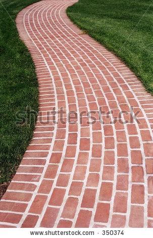 Brick Walk Way - stock photo