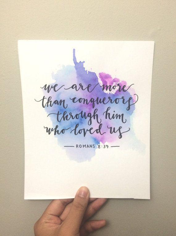 Romans+8:37+by+Joyfulettering+on+Etsy