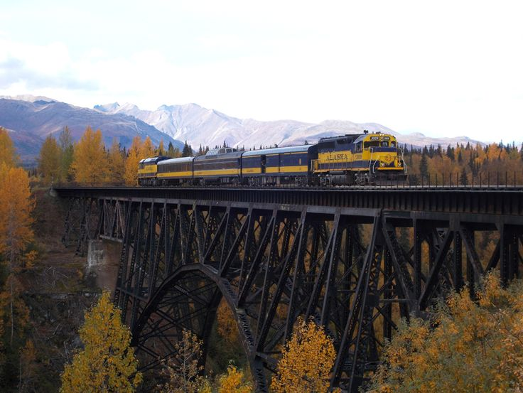 Alaska Railroad Travel - Hurricane Turn Flagstop Train