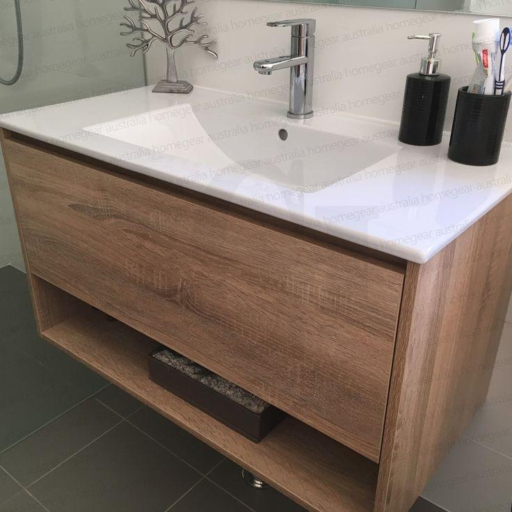 EDEN | 750mm White Oak Textured Timber Wood Grain Bathroom ...