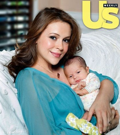 Alyssa Milano and son Milo... I am the same age as Alyssa so I sort of felt like I grew up with her via Samantha Micelli on Who's The Boss. I'm happy to see her become a mom!