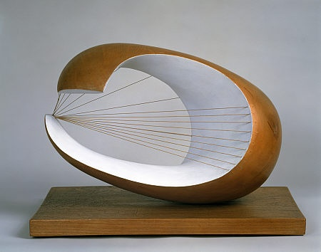 Dame Barbara Hepworth sculpture - i love how the materials are used together to create a fluid piece of work. Click on link to find original; http://www.nationalgalleries.org/collection/artists-a-z/H/3584/artistName/Dame%20Barbara%20Hepworth/recordId/57366