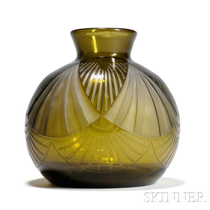 799 Best Images About Art Deco Glass Vases On Pinterest