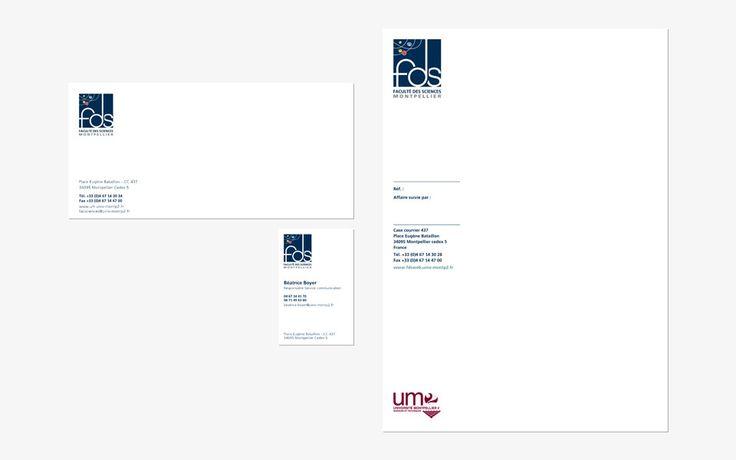 #agencerebelle - papeterie Faculté des Sciences  #IdentitéVisuelle