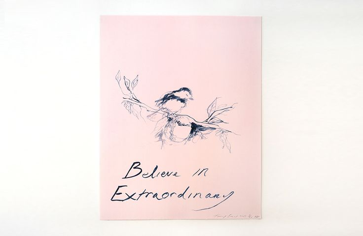 Believe In Extraordinary by Tracey Emin for Team GB @ Baku Games, Beautiful lithographic print of 300 editions available exclusively at countereditions.com #contemporaryart #limitededition #traceyemin #editions #baku2015 #olympics #teamgb #olympicart #countereditions