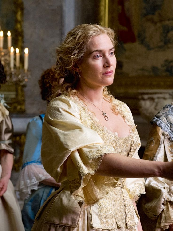 Kate Winslet as Sabine de Barra in A Little Chaos (2015) | Good movie, i give it a 3/5★ Those who love Jane Austen novels will like it; has shades of Titanic too ♥