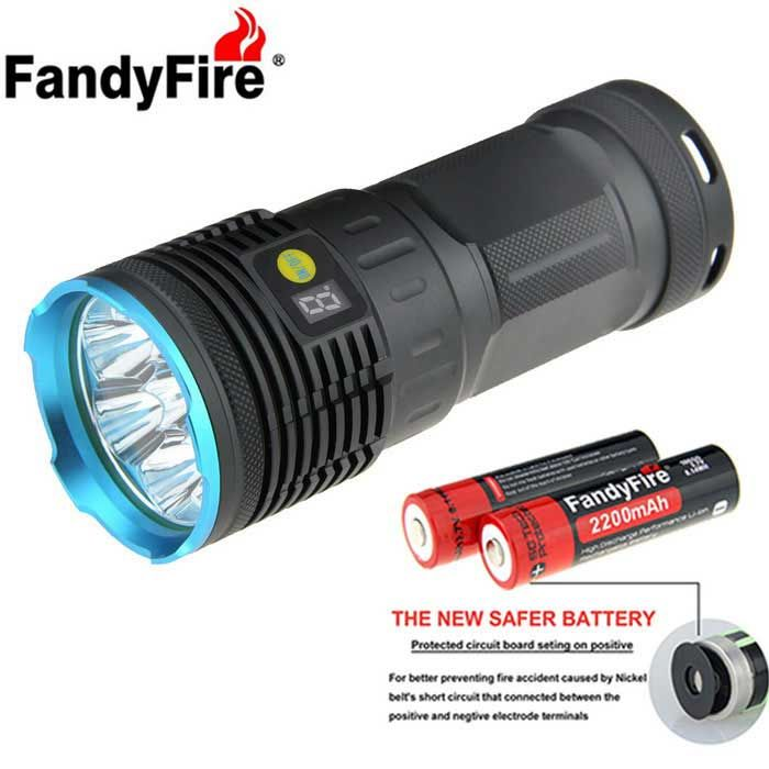 with 4 x 18650 Batteries and 1 x 18650 Charger, . Find the cool gadgets at a incredibly low price with worldwide free shipping here. FandyFire XM-L T6 7-LED 6000lm High Power Flashlight - Blue, 18650 Flashlights, . Tags: #Lights #Lighting #Flashlights #LED #Flashlights #18650 #Flashlights
