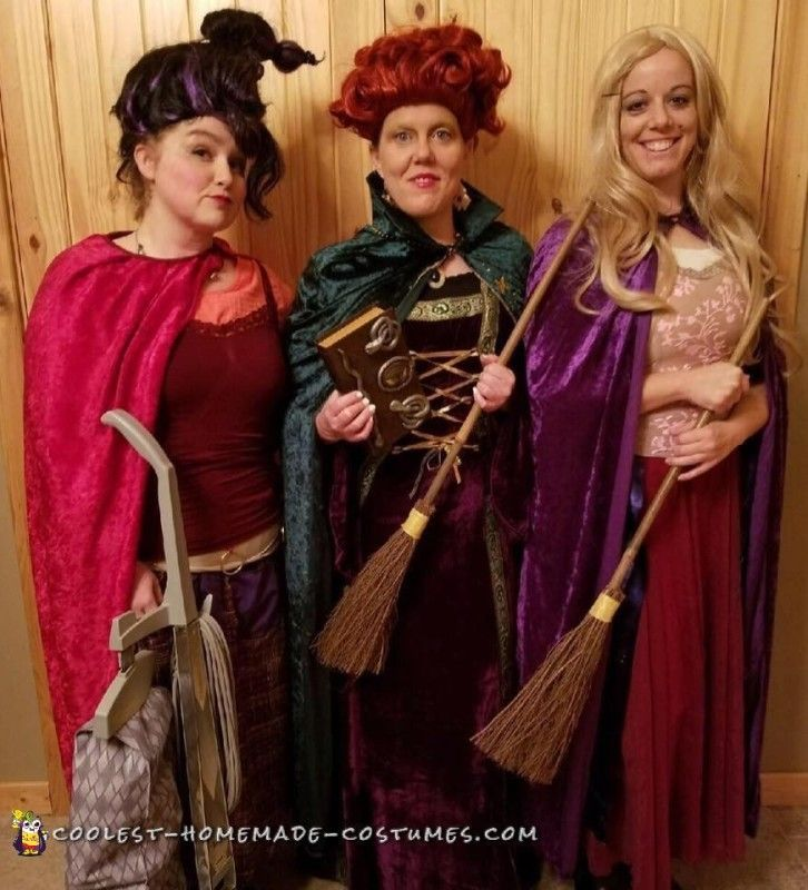 diy cute group costume idea the sanderson sisters - Halloween Group Costume Themes