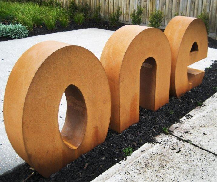 garden art signage