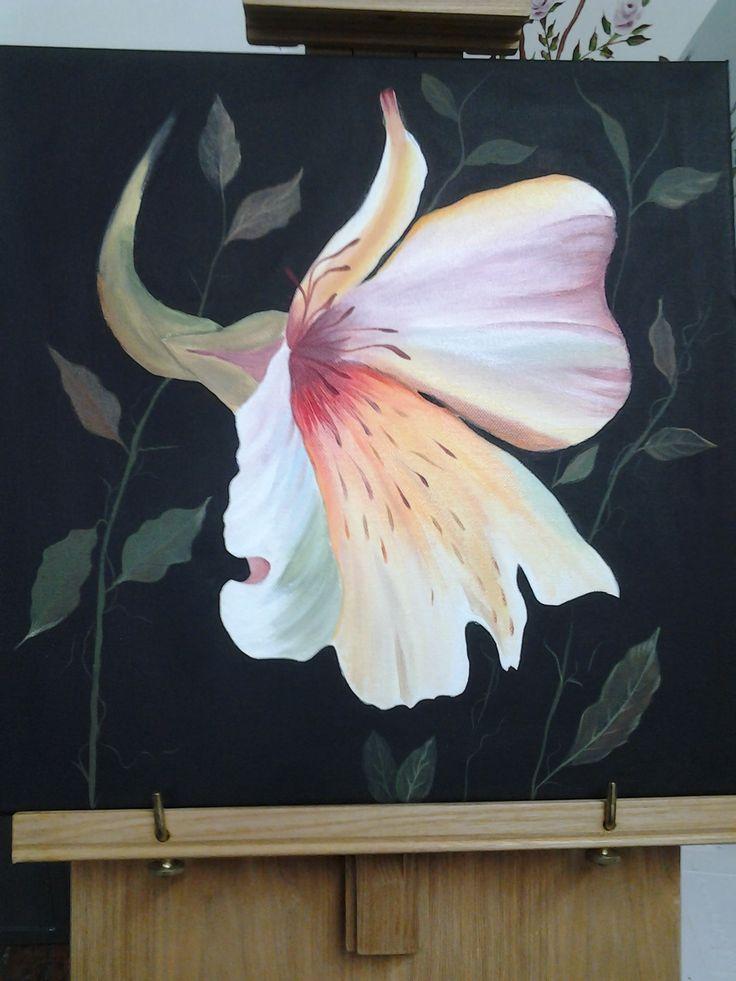 Fiore tropicale acrilico su tela