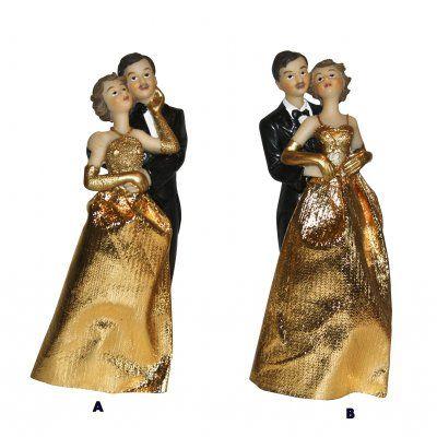 couple de maris noces dor figurine 50 ans de mariage - Texte 50 Ans De Mariage Noces D Or